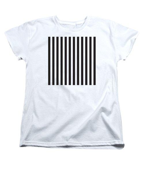 Black Stripes Women's T-Shirt (Standard Fit)