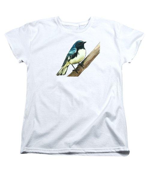 Black-throated Blue Warbler Women's T-Shirt (Standard Cut)