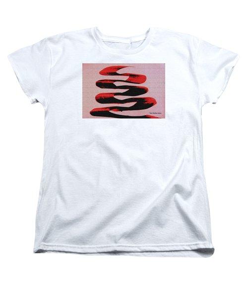 Black Walnut Ink Abstract #10 Women's T-Shirt (Standard Cut) by Tom Janca