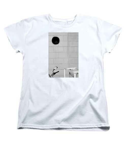 Black White Grey Women's T-Shirt (Standard Cut) by Prakash Ghai