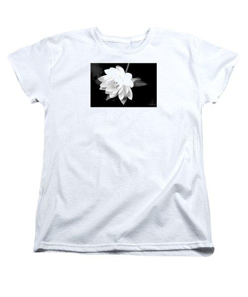 Black/white Lotus Women's T-Shirt (Standard Cut) by Debra     Vatalaro