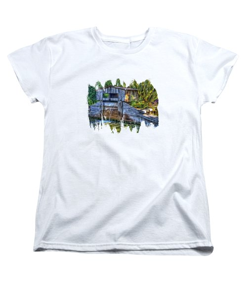 Blakes Pond House Women's T-Shirt (Standard Cut) by Thom Zehrfeld