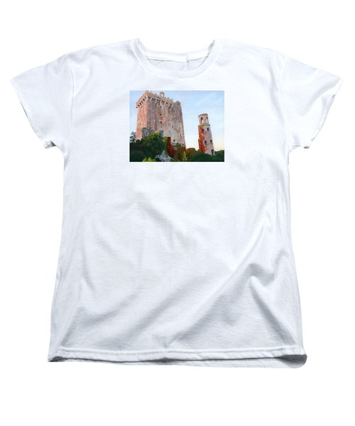 Women's T-Shirt (Standard Cut) featuring the painting Blarney Castle by Lynne Reichhart