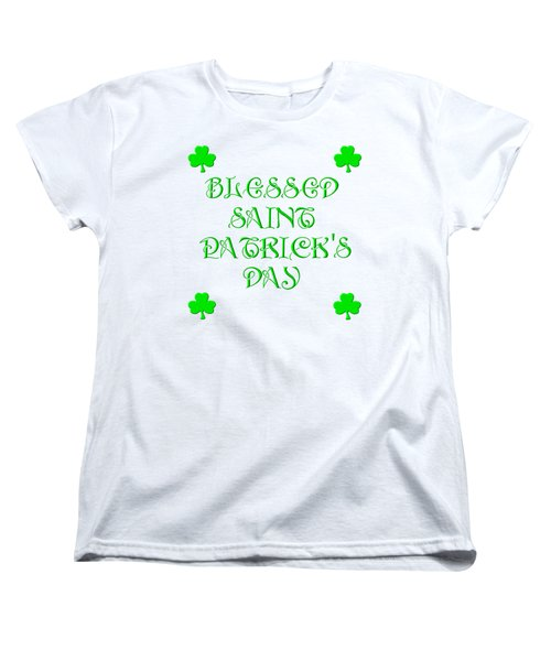 Blessed Saint Patricks Day Women's T-Shirt (Standard Cut)
