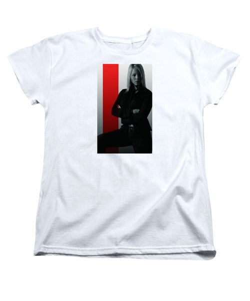 Women's T-Shirt (Standard Cut) featuring the photograph Blonde With Attitude by Bob Pardue