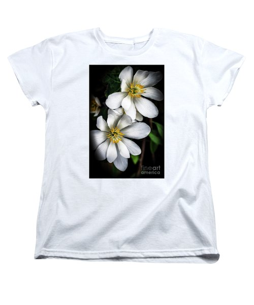Women's T-Shirt (Standard Cut) featuring the photograph Bloodroot In Bloom by Thomas R Fletcher