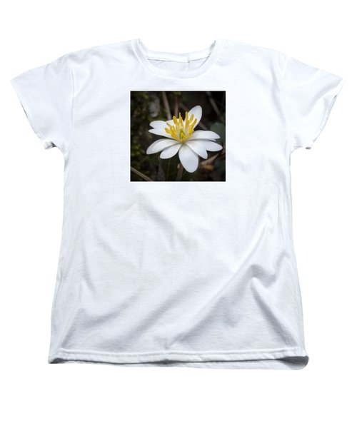 Women's T-Shirt (Standard Cut) featuring the photograph Bloodroot by Tyson and Kathy Smith