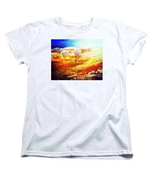 Blossom Dawn Women's T-Shirt (Standard Cut) by Winsome Gunning