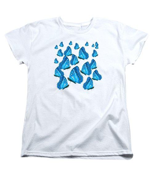 Blue Butterflies Women's T-Shirt (Standard Cut) by Jan Matson