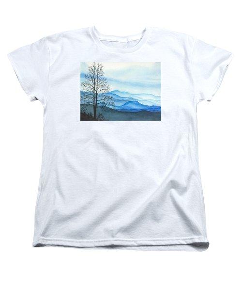 Blue Calm Women's T-Shirt (Standard Cut) by Rachel Hames