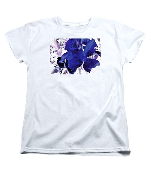 Women's T-Shirt (Standard Cut) featuring the photograph Blue Canna Lily by Shawna Rowe