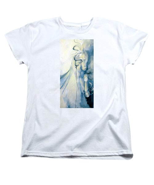 Women's T-Shirt (Standard Cut) featuring the painting Blue Circus Pony 2 by Dina Dargo