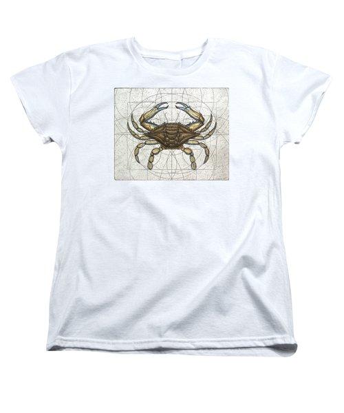 Blue Crab Women's T-Shirt (Standard Cut) by Charles Harden