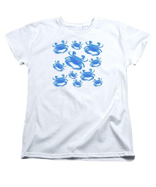 Blue Crabs Women's T-Shirt (Standard Cut) by Jan Matson