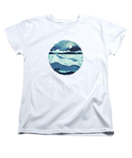Blue Desert Women's T-Shirt (Standard Cut) by Spacefrog Designs