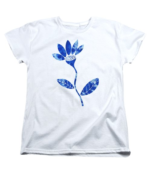 Blue Flower Women's T-Shirt (Standard Cut) by Frank Tschakert