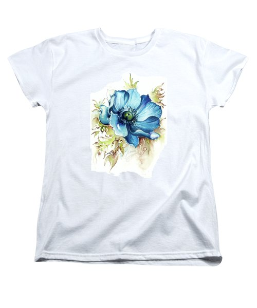 Blue Gem Women's T-Shirt (Standard Cut) by Anna Ewa Miarczynska
