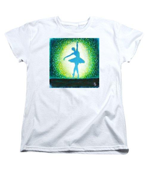 Blue-green Ballerina Women's T-Shirt (Standard Cut)
