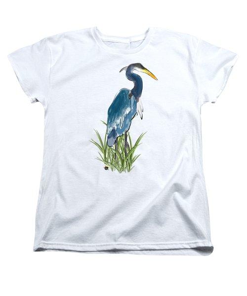 Blue Heron Women's T-Shirt (Standard Cut) by Devon LeBoutillier
