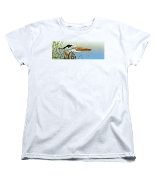 Blue Heron  Women's T-Shirt (Standard Cut) by Mike Brown