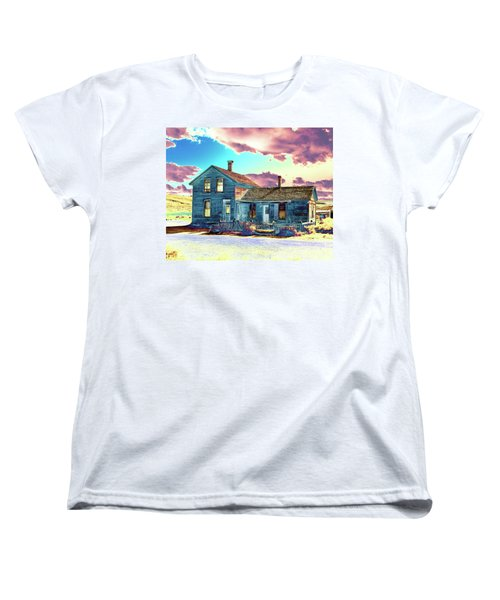 Women's T-Shirt (Standard Cut) featuring the photograph Blue House by Jim and Emily Bush
