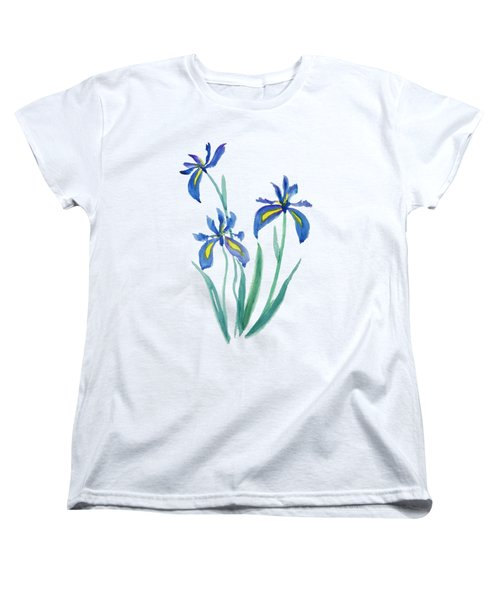 Blue Iris Women's T-Shirt (Standard Cut) by Color Color