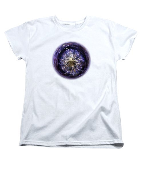 Blue Jelly Fish Orb On Transparent Background Women's T-Shirt (Standard Cut) by Terri Waters