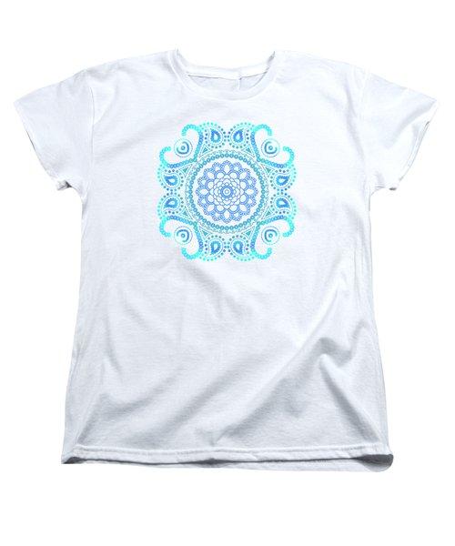 Blue Lotus Mandala Women's T-Shirt (Standard Cut) by Tammy Wetzel
