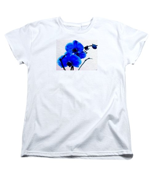 Women's T-Shirt (Standard Cut) featuring the digital art Blue Orchid  by Anthony Fishburne
