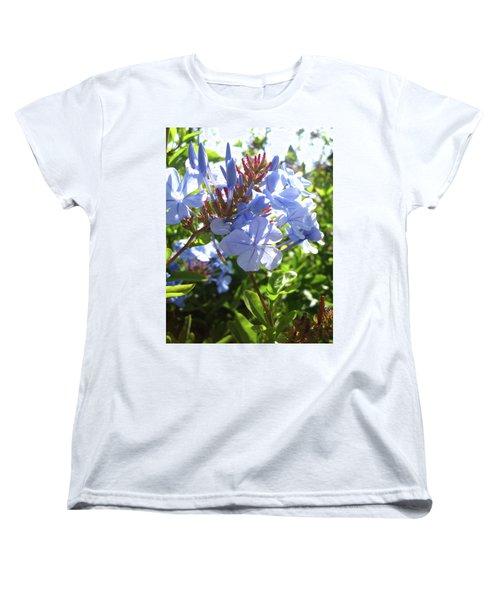 Women's T-Shirt (Standard Cut) featuring the photograph Blue Plumbago by Mary Ellen Frazee