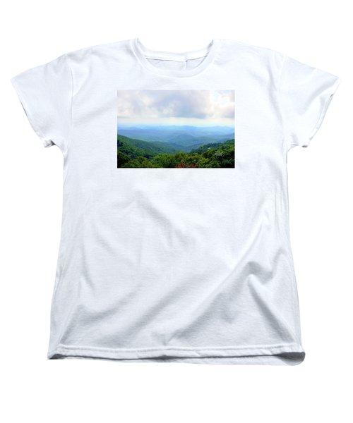 Women's T-Shirt (Standard Cut) featuring the photograph Blue Ridge Parkway Overlook by Meta Gatschenberger