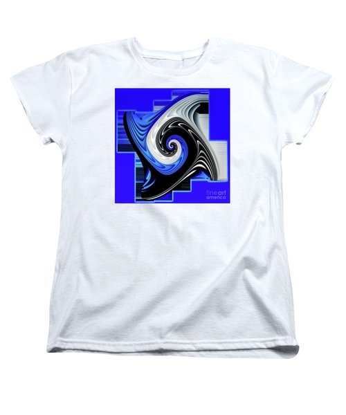Women's T-Shirt (Standard Cut) featuring the digital art Blue River by Shadowlea Is