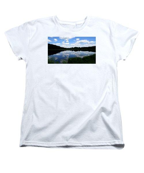 Women's T-Shirt (Standard Cut) featuring the photograph Blue Skies At Cadiz Springs by Kimberly Mackowski