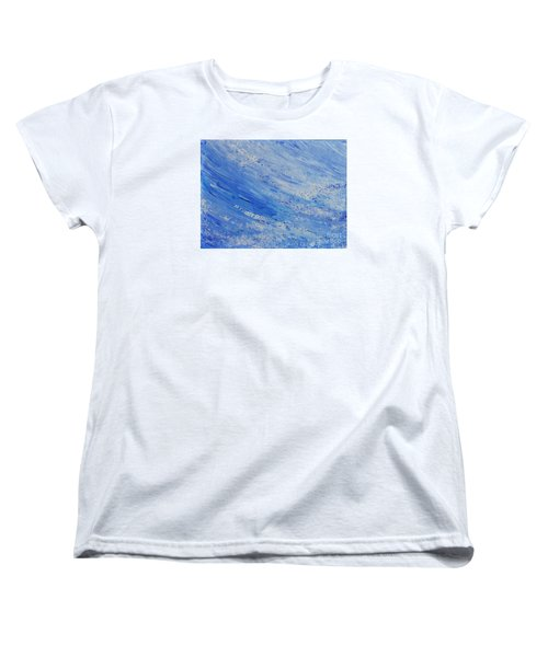 Women's T-Shirt (Standard Cut) featuring the painting Blue by Teresa Wegrzyn