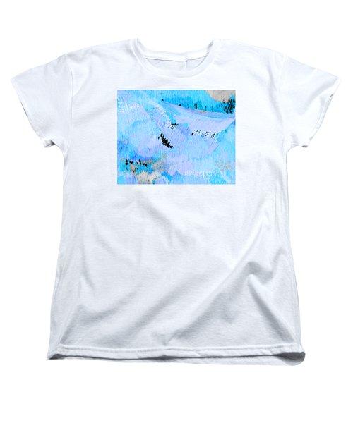 Blue Water Wet Sand Women's T-Shirt (Standard Cut) by Stephanie Grant