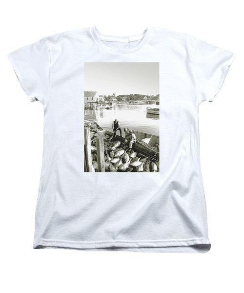Bluefin Tuna At Barnstable Harbor Women's T-Shirt (Standard Cut) by Charles Harden