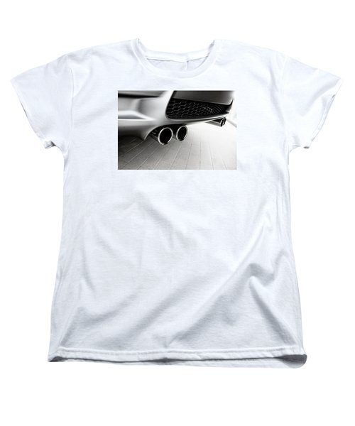 Women's T-Shirt (Standard Cut) featuring the photograph Bmw M3 Exhaust  by Aaron Berg