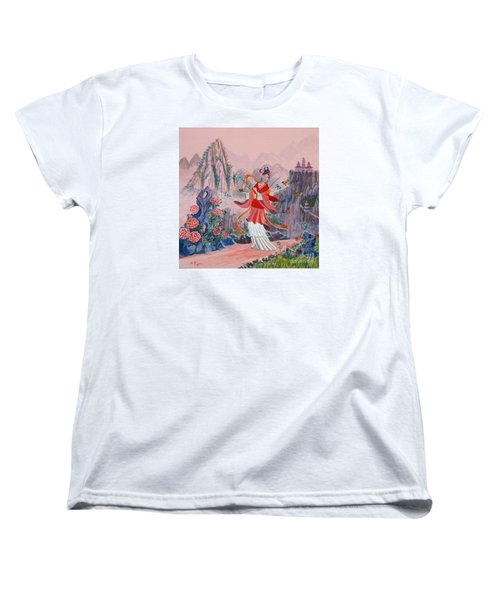 Women's T-Shirt (Standard Cut) featuring the painting Bo Chaa by Anthony Lyon