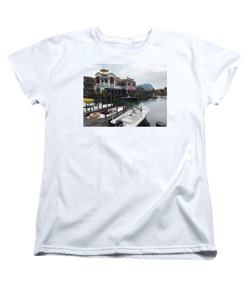 Women's T-Shirt (Standard Cut) featuring the photograph Boat Yard by Michael Albright