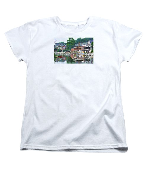 Boathouse Row In Philadelphia Women's T-Shirt (Standard Fit)