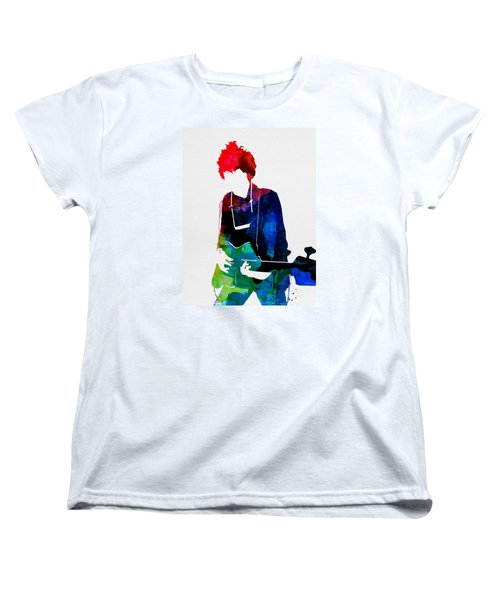 Bob Watercolor Women's T-Shirt (Standard Cut) by Naxart Studio