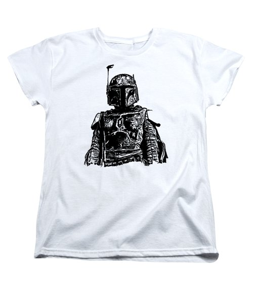 Boba Fett From The Star Wars Universe Women's T-Shirt (Standard Cut) by Edward Fielding
