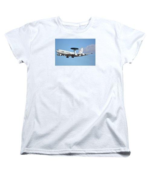 Boeing E-3b 71-1407 Sentry Phoenix Sky Harbor January 9 2015 Women's T-Shirt (Standard Cut) by Brian Lockett
