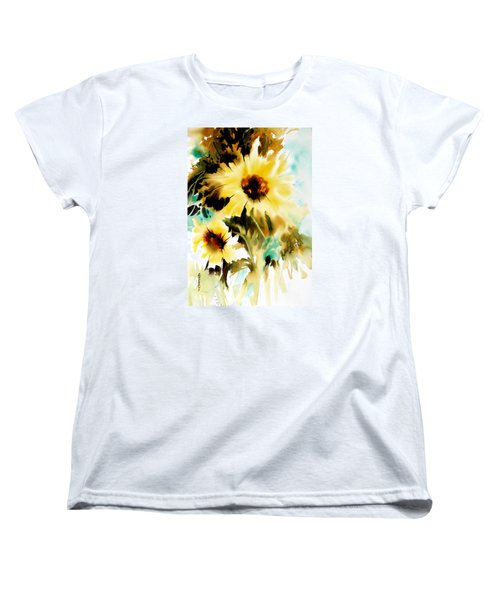 Women's T-Shirt (Standard Cut) featuring the painting Bold And Beautiful by Rae Andrews