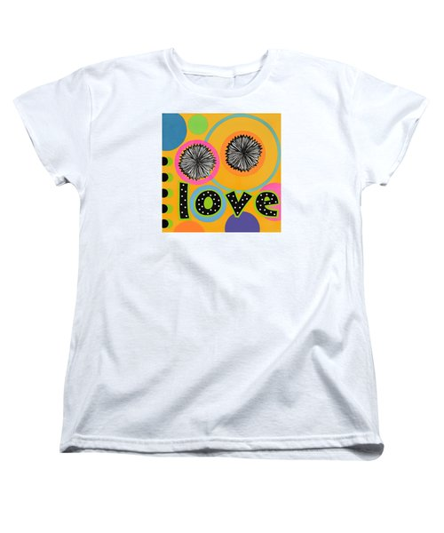 Women's T-Shirt (Standard Cut) featuring the mixed media Bold Love by Gloria Rothrock