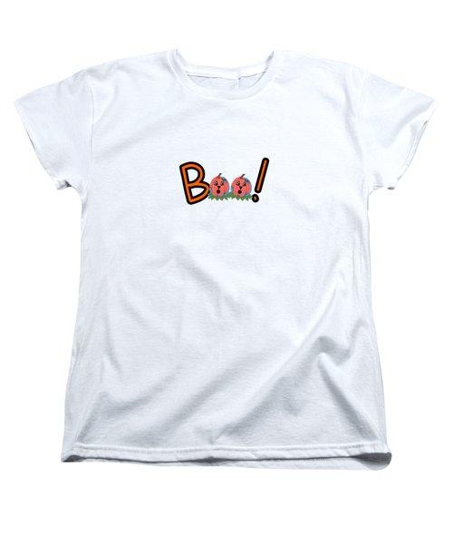 Boo Women's T-Shirt (Standard Cut) by Kathleen Sartoris