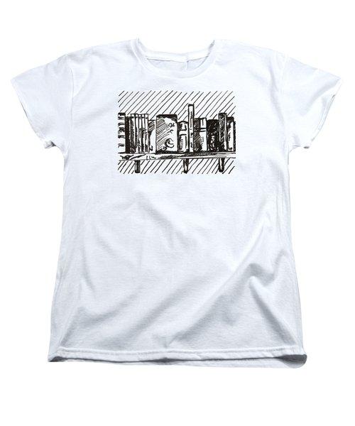 Bookshelf 1 2015 - Aceo Women's T-Shirt (Standard Cut) by Joseph A Langley