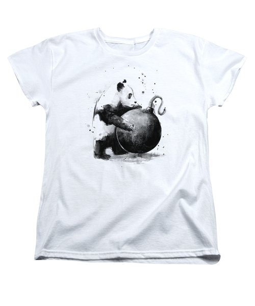 Boom Panda Women's T-Shirt (Standard Cut) by Olga Shvartsur