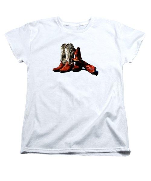 Boot Friends Cowboy Art For Tshirts Women's T-Shirt (Standard Cut)