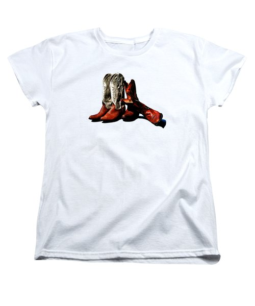 Boot Friends Cowboy Boot T Shirt Art Women's T-Shirt (Standard Cut)